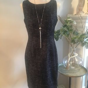 Calvin Klein 🎁 Navy Tweed Dress